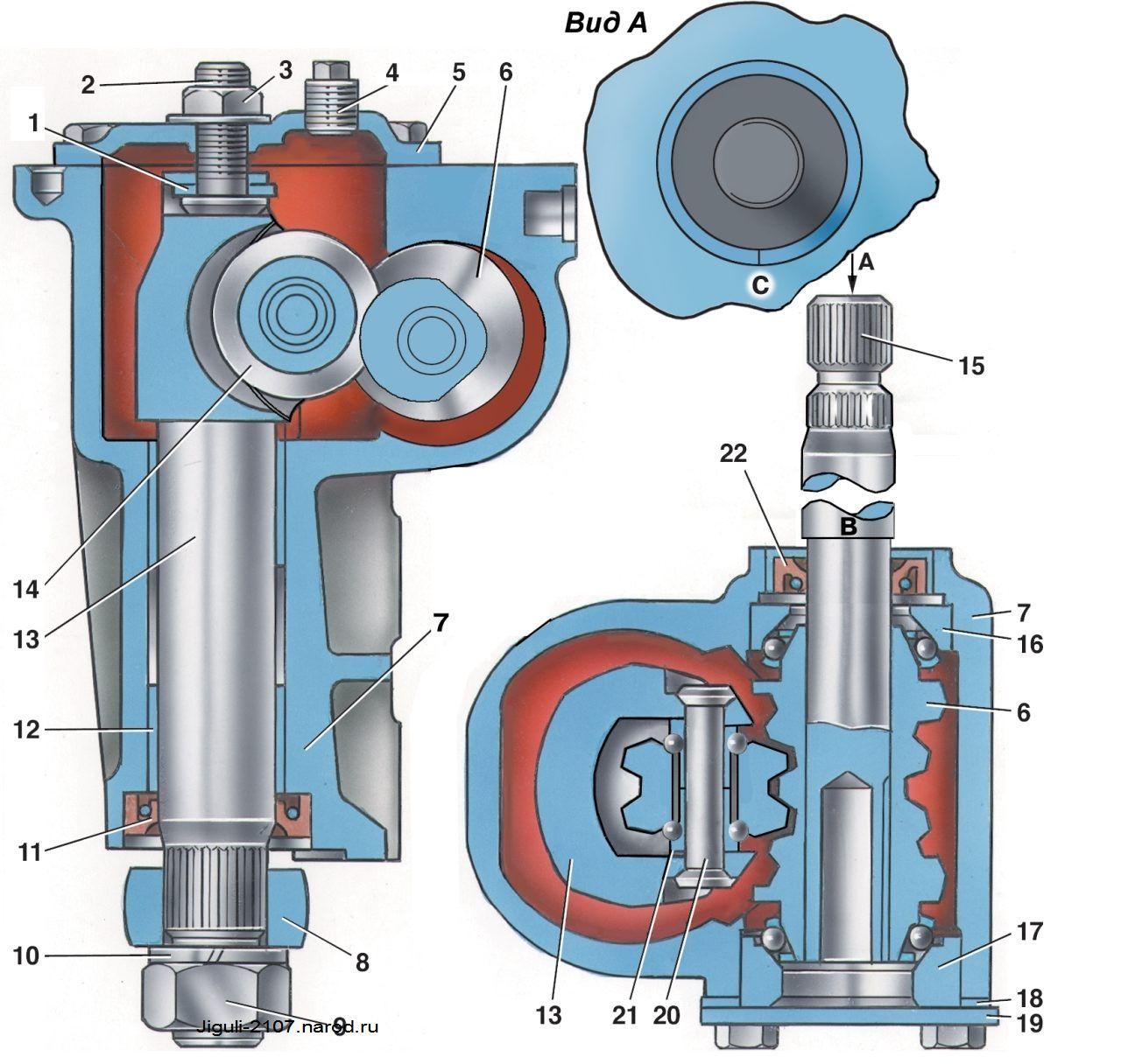 Установка и снятие рулевого механизма Ваз 2107, Ваз 2105, Ваз 2104, Лада Жигули, Классика.